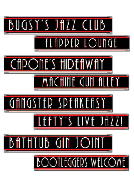 1920s Party Cut Out Sign Decorations Pk4