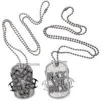 Black Veil Brides Band Logo Legion Pendant Dog Tag Necklace 24 Shot Bead Chain