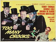 """Too many crooks 16"""" x 12"""" Reproduction Movie Poster Photograph"""