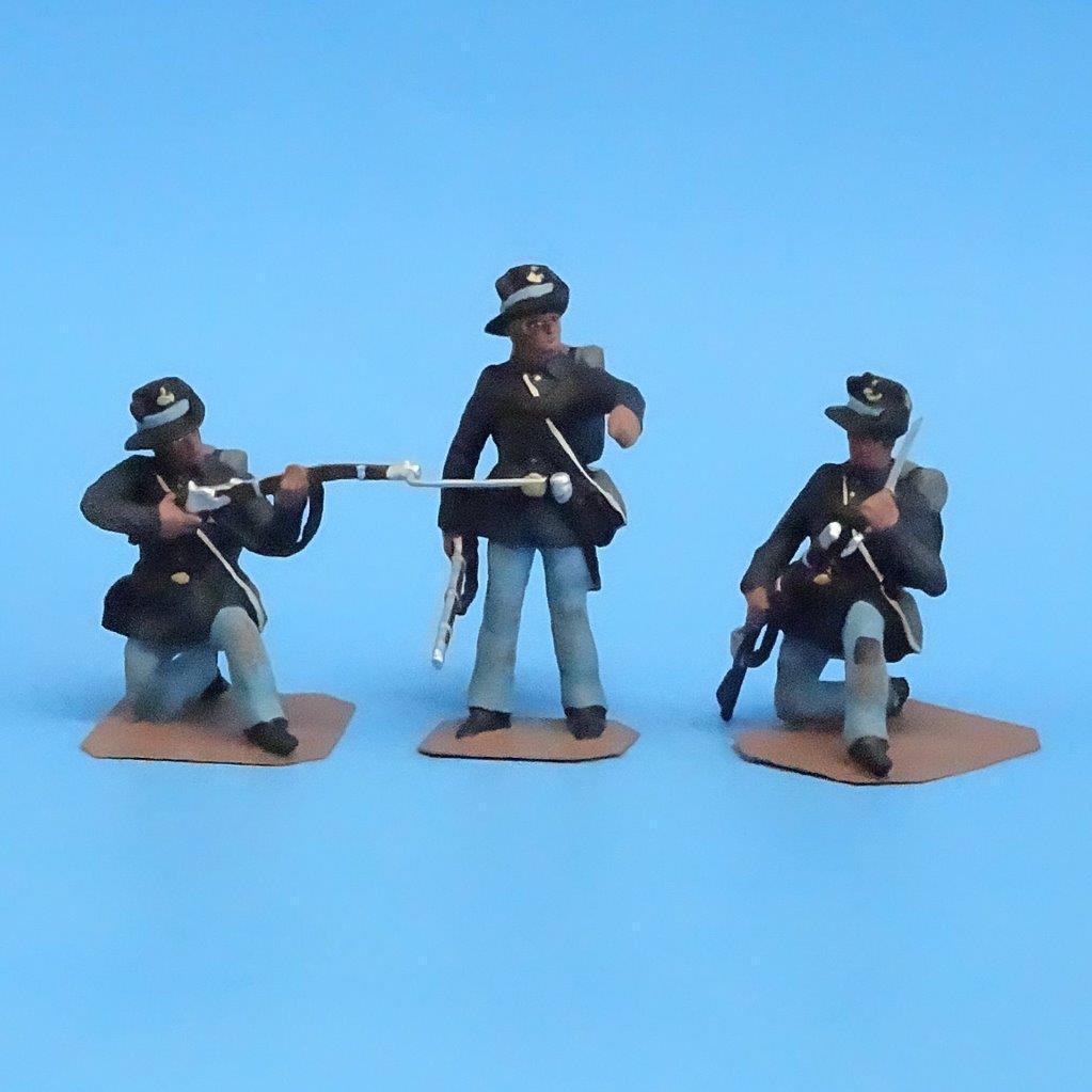 CORD172  Ferro Brigade 3 Personaggi  Acw  Soldato Bay Miniature  54mm