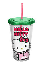 Hello Kitty Holiday Acrylic Travel Cup W/ Lid & Straw Kid-18 Oz