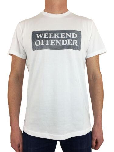 Weekend Offender Mens Bishop TSSS1819 Logo Branded T-Shirt in White