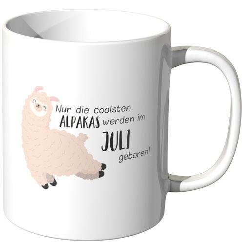 """Juniwords Tasse /""""les plus cool alpagas sont par mois né/"""" Cadeau Drôle"""