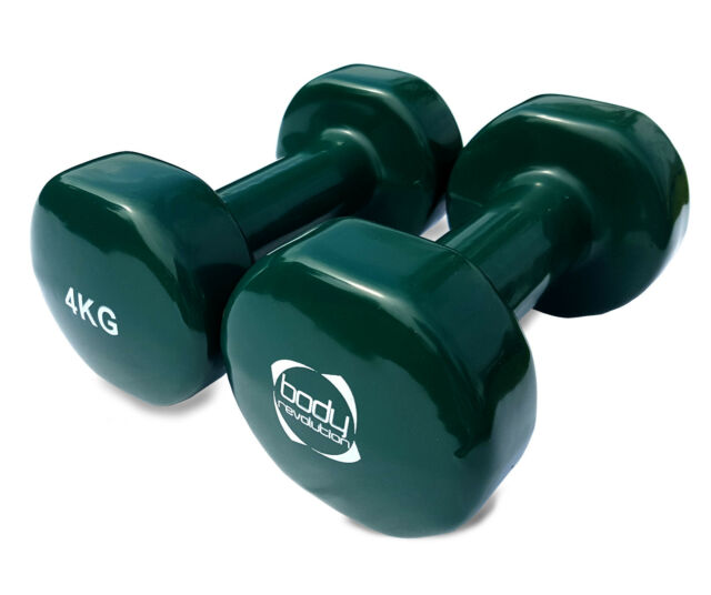 f9010d74a01 Vinyl Dumbbells Hand Weights Ladies Dumbbell Set Home Gym Fitness ...
