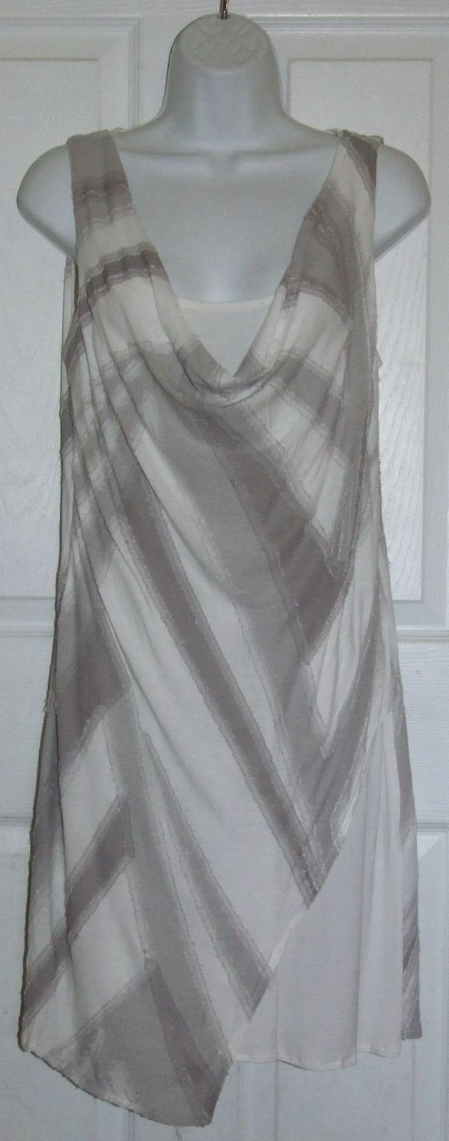 Ronen Chen Paloma Tunic Cream & Brown Dress