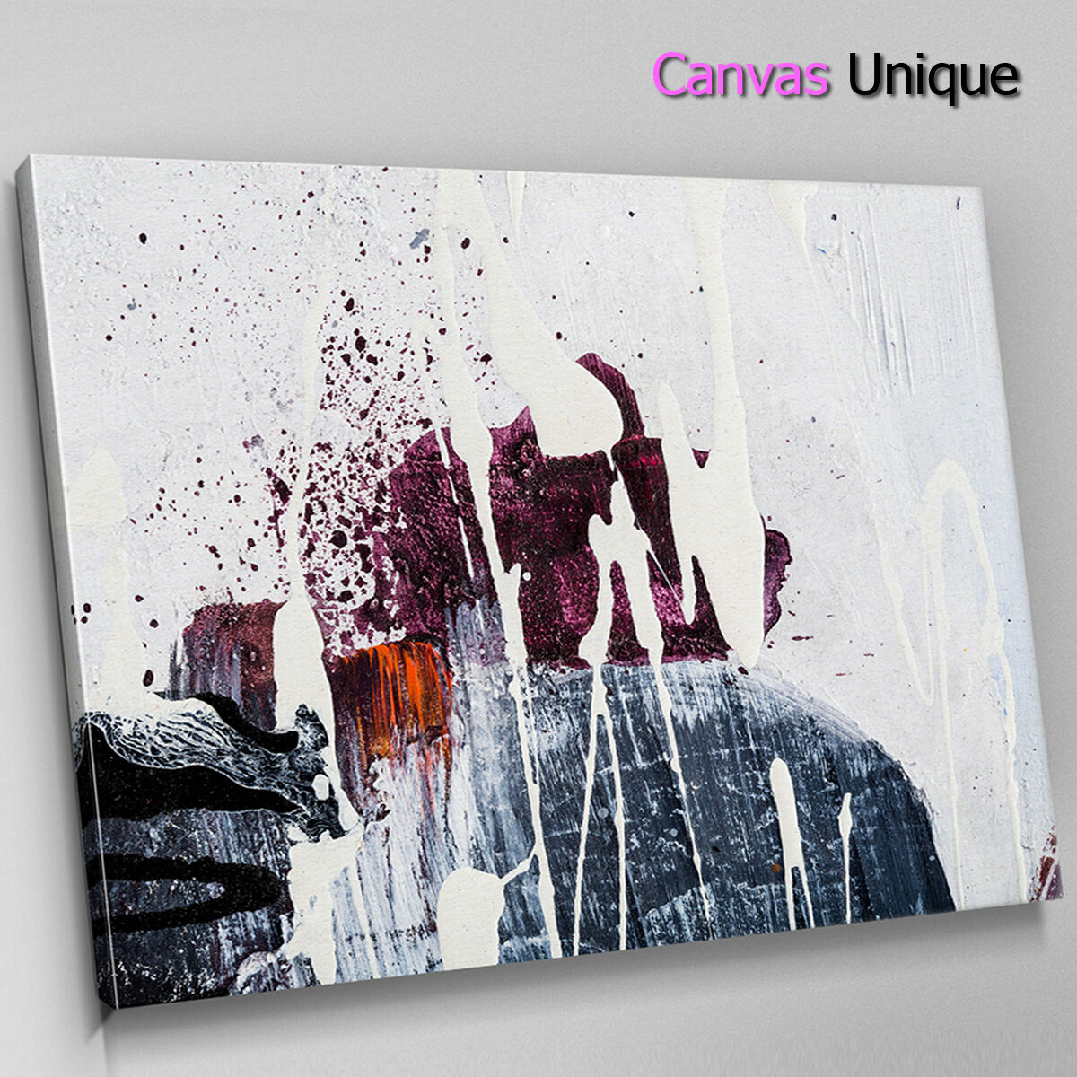 AB1190 rot paint drip effect Abstract Canvas Wall Art Framed Picture Print