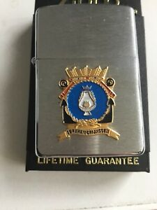ZIPPO 1995 LIGHTER DUTCH NAVY CREST HMS ABRAHAM CRIJNSSEN