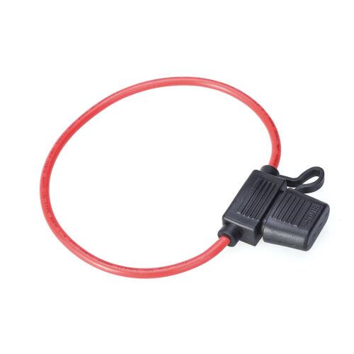 10x Auto PKW KFZ-Sicherungshalter Flachsicherung Halter Sicherung Kabel 12AWG