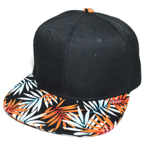 Flower Hawaiian Leaf Flat Visor Printed Fashion Cap Snapback Baseball Hat