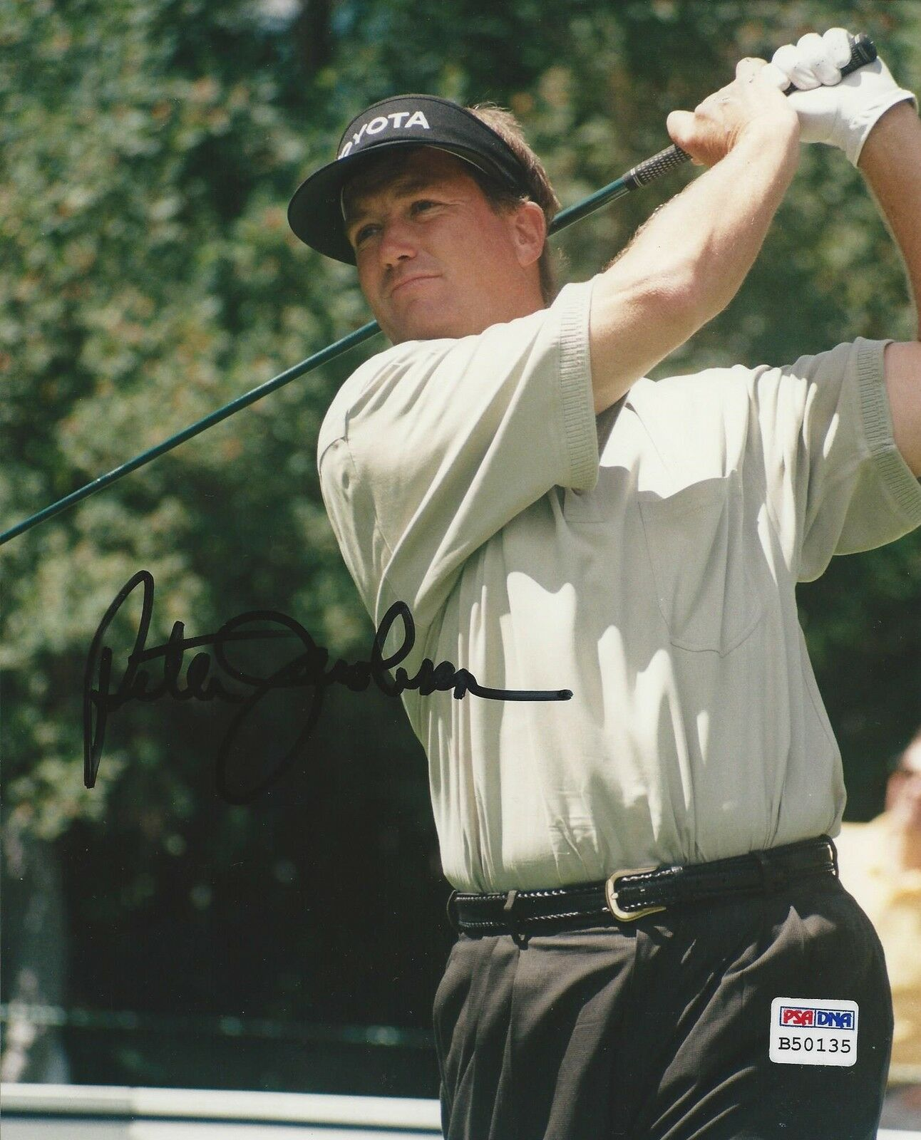 Peter Jacobson PGA Golf signed 8x10 photo PSA/DNA #B50135