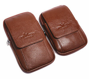 24c8f4574722 Vertical Leather Phone Case Holster Pouch Waist Bag Wallet Purse + ...