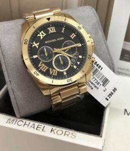 Big-Sale-Michael-Kors-Brecken-Chronograph-Watch-MK8481-Gold-tone