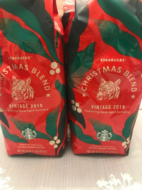 Starbucks Christmas Blend Vintage 2020 2) STARBUCKS 2019 Christmas Blend (1lb Bag x 2) Whole Bean Dark