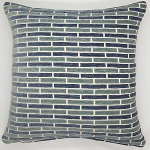 Handmade-Shades-of-Blue-amp-Grey-Heavy-Embossed-Home-Decor-Cushion-Cover-50x50-New