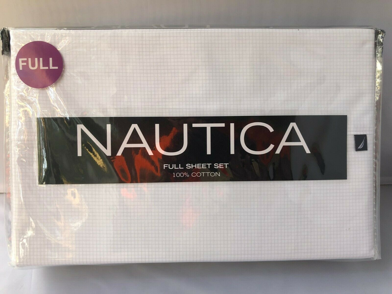Nautica Devonport Grid T200 DWT Full Sheet Set Ross Coo  100% Cotton
