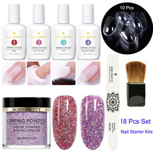 BORN-PRETTY-Nail-Dipping-Powder-System-Liquid-Brush-Set-Nail-Art-Starter-Kits