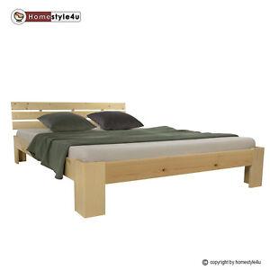 Doppelbett Holzbett Futonbett 160x200 Natur Kiefer Bett Bettgestell