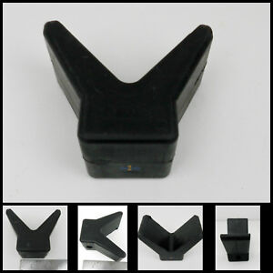 Tie-Down-Boat-Trailer-Black-Rubber-2-034-Bow-V-Stop-with-3-8-034-hole