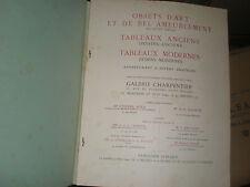 catalogue de ventes Paris 1949 127 Lots tableaux objets d'art bel ameublement