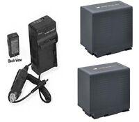 2 Batteries +charger For Panasonic Cga-d54 Cga-d54s Cgr-d54 Vw-vbd55 Cga-d54se1b