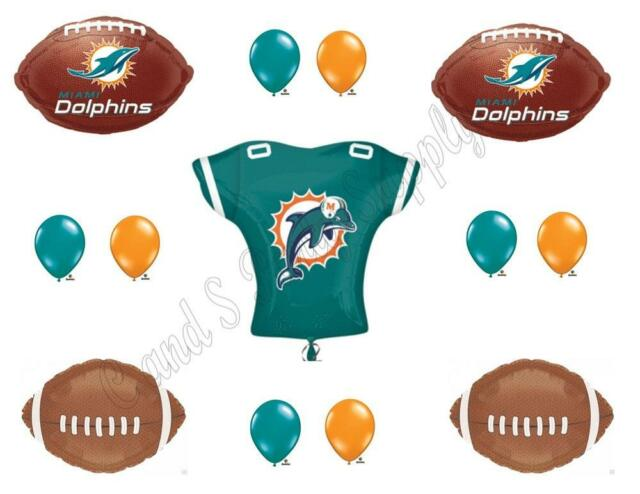 MIAMI DOLPHINS FOOTBALL Jersey Birthday Party Balloons Decoration Supplies  Game
