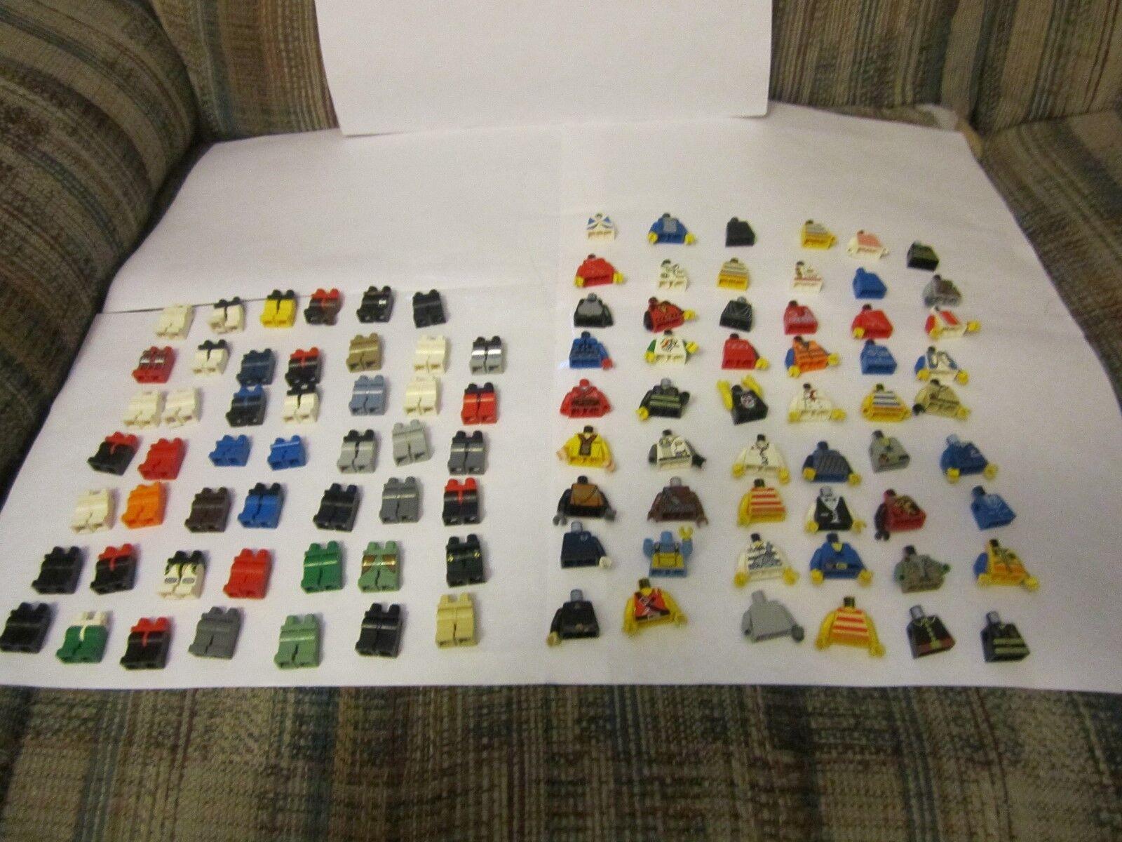 Large Huge Lego Minifig Minifigure Parts Lot Torsos Legs arms hands 100 plus