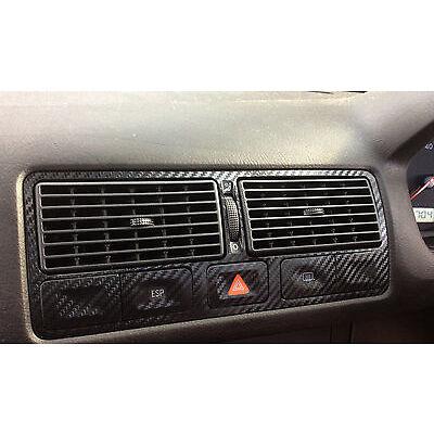 VW Golf Mk4 3D Black Carbon Fibre Effect Air Vents TDI GTI R32 VR6 VE