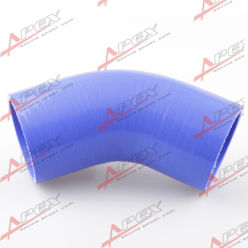 """inch 45 Degree Silicone Hose Coupler Pipe Turbo Blue 4Ply 4/"""" 102mm"""