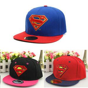 Kids-Girls-Boy-Superman-Summer-Sun-Hat-Baseball-Cap-Adjustable-Sports-Snapback