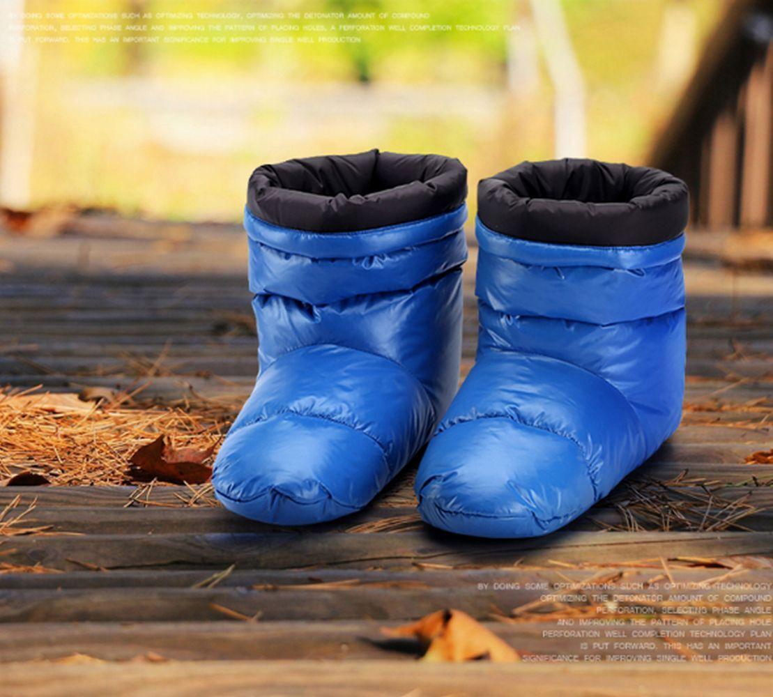 Unisex Glanznylon Weich Daunenstiefel Stiefel Schuh Schneestiefel wetlook Boots