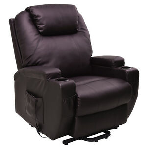 Lift Chair Electric Power Recliner w/Remote and Cup Holder Living ...