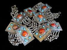 Vintage Antiguo Tribal turcomanos joyas Cinturón Ágatas Turquía Irán Afganistán