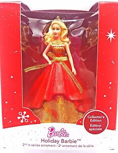 Hallmark-Keepsake-Red-Gold-Holiday-Barbie-Christmas-Tree-Ornament-New-2014
