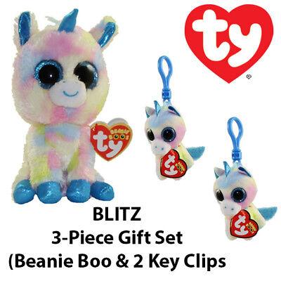 3-Piece TY Pink Giraffe Gift Set Gilbert Boo /& Key Clip//Ferris Teeny TY