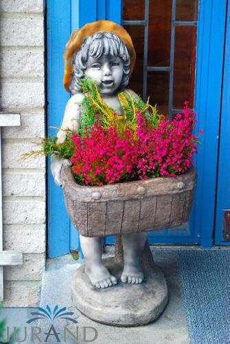 Figurine Sculpture Jardin Fleurs Pot Pot Décoration Pierre personnages sculptures 2025