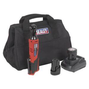 Sealey-CP1202KIT-12V-Ratchet-Wrench-Kit-3-8-034-Sq-Drive-2-Batteries