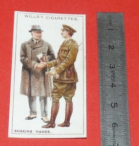CIGARETTES-WILLS-CARD-1922-DO-YOU-KNOW-SAVIEZ-VOUS-N-40-WHY-WE-SHAKE-HANDS