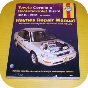 repair manual book toyota corolla geo prizm 93 02 owner ebay rh ebay com 1993 toyota corolla repair manual 93 toyota corolla owners manual