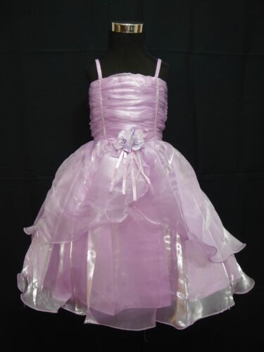 Girls Party Dress Pink White Lilac