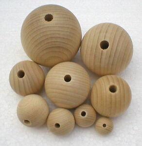Holzkugeln-mit-halber-Bohrung-Rohholzkugeln-Kugeln-9-Groessen-zur-Auswahl