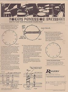 #MISC -0289 - 1970 7 page Rogers Drum fact sheet Set-afficher le titre d`origine ty0IR8WM-08132824-329174617