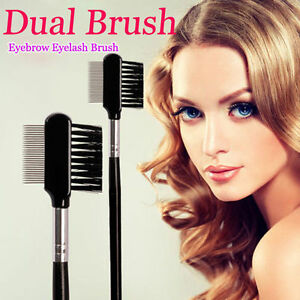Travel-Steel-Eyebrow-Eyelash-Dual-Comb-Extension-Brush-Comb-Cosmetic-Makeup-Tool