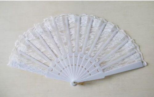 Spanish Lace Fabric Silk Folding Hand Held Dances Fan//Flower Party//Wedding Prom