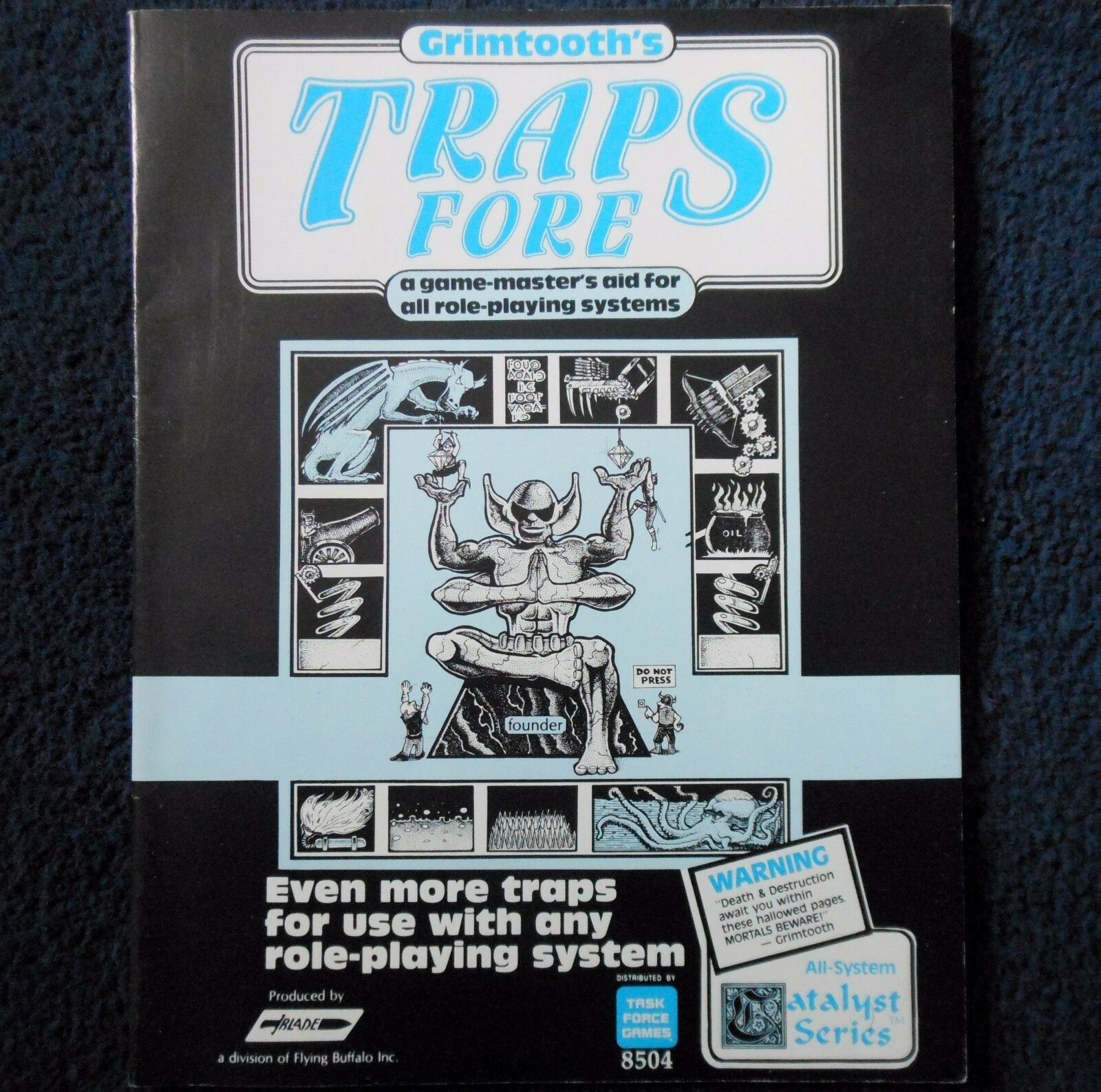 Grimtooth's Traps Fore Advanced Dungeons & Dragons Adventure Module D&D RPG 8504