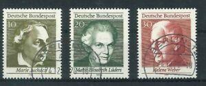 BRD-Mi-Nr-596-598-zentrisch-gestempelt-Berlin-12-Originalgummierung