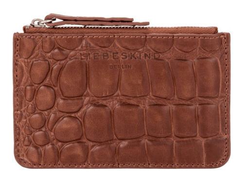 LIEBESKIND BERLIN Waxy Croco StarS1 Geldbörse Medium Brown Braun Neu