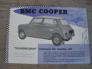 BMC-MINI-COOPER-997cc-BMC-SWEDEN-EARLY-SINGLE-PAGE-SALES-BROCHURE-RARE-ORIGINAL