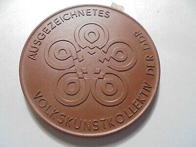 VertrauenswüRdig 31176 Meissen Medaille Ausgezeichnetes Volkskunstkollektiv 1973 66mm Medal Volumen Groß