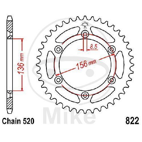 Kettenrad 43Z TEIL 520 JTR822.43