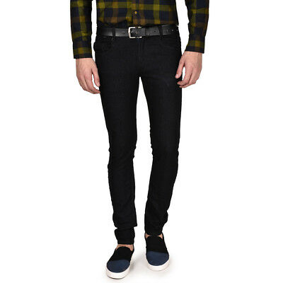 Routeen Men's Slim Fit Black Jeans Pants (JRMRNG188S5BL)